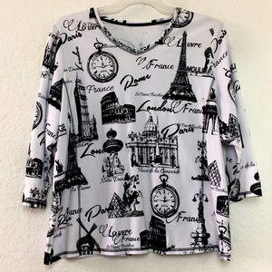 ✅Women Allison Daley London Paris Rome Sweater 2X